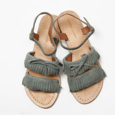 Baja fringe sandal in grey