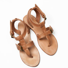 Lipari sandals in tan
