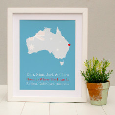 Home is where your heart is personalised print