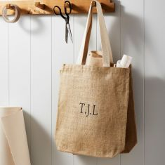 Personalised Initial 100% Jute Shopper Bag