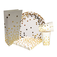 Gold confetti party sets