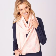 Limited Edition Merino Scarf - Paper Daisy in Peachy/Natural