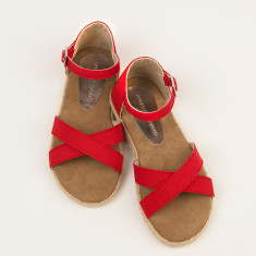 Girls espadrille sandals in poppy red