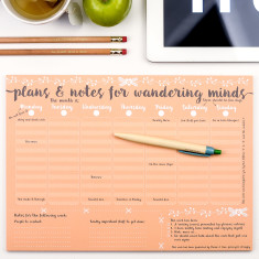 Wandering minds weekly planner