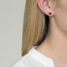 Love stud earrings 18k rose gold vermeil
