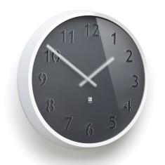 Umbra Clairo wall clock in white/charcoal