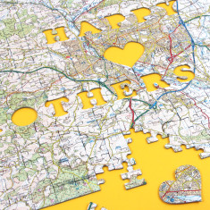 Personalised Mother's Day Map Jigsaw
