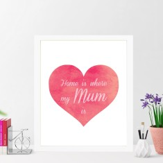 Home is where my mum is print