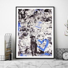 Love Is The Answer (Blue) by Mr Brainwash Art Print