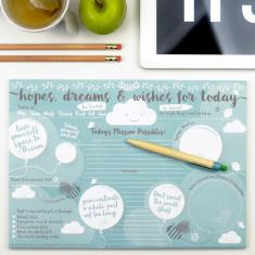 Hopes, dreams & wishes desk jotter