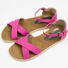 Espadrille women's pink sandals