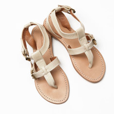 Lipari sandal in ivory