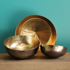 Copenhagen spin bowl in black/gold (various sizes)
