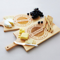 Personalised eat, talk, share cheese board