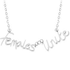Females Unite word necklace