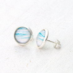 Turquoise Ocean Stud Earrings