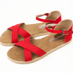 Espadrille women's poppy red sandals