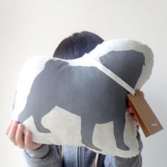 Hug pug toy in grey