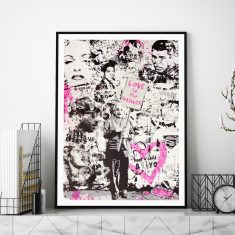 Love Is The Answer (Pink) by Mr Brainwash Art Print