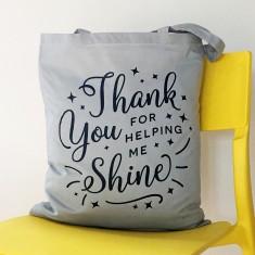 Helping me shine teacher tote bag