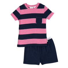 Pink and Navy Stripe Pj