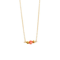 Petite coral necklace