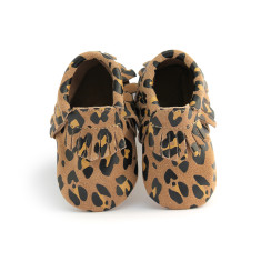 Baby moccasins in leopard
