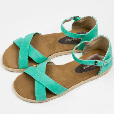 Women's espadrilles in mint