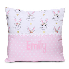 Personalised name cushion in Bunny