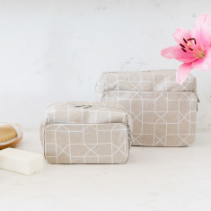 Geo X-Large Wash Bag & Medium Wash Bag