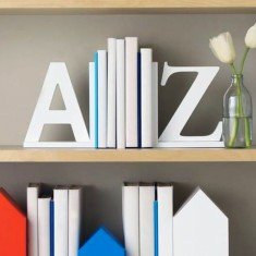 White A-Z Book Ends