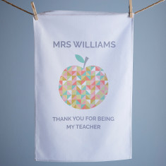 Personalised Teacher Tea Towel