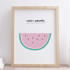 I Carried A Watermelon Film Quote Print
