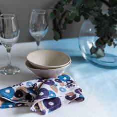 Blue tie dye tablecloth