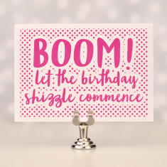 Boom birthday card