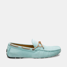 Rope Suede Loafers Men's Shoes In Ocean Mist