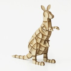 Wooden Puzzle - Kangaroo