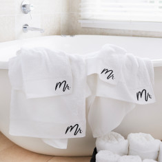 Mr & Mr Bath Sheet Gift Set