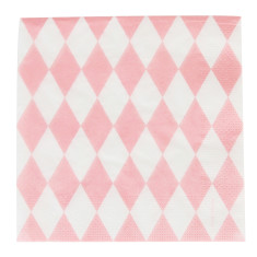 pink diamonds party napkins (2 pack)