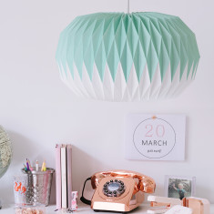Mint Green Paper Origami Lampshade