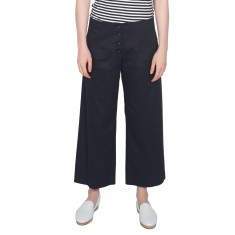 Black Sateen 7/8 Pant