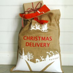 Christmas Delivery Sack in White