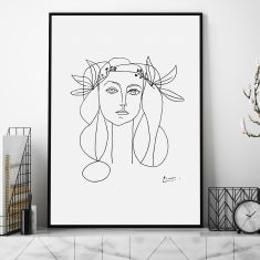 Head Of A Woman by Pablo Picasso Art Print