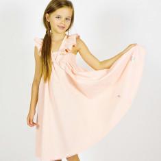 Girls' peach dress