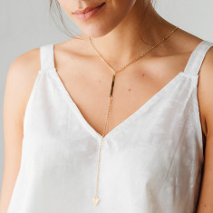 Long gold-plated Isla necklace