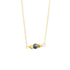 Petite pyrite necklace