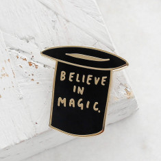 Believe In Magic Top Hat Enamel Pin