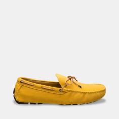 Rope Suede Loafers Men's Shoes In Mustard