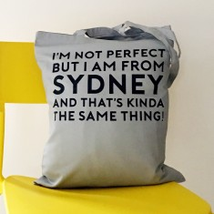 Personalised perfect places tote bag