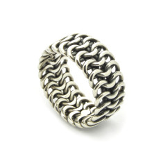Silver Chainmaille Loricatus Ring